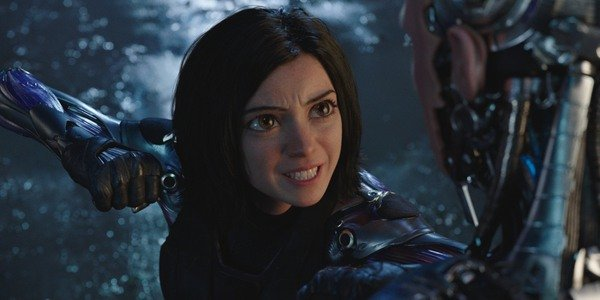Alita: Battle Angel Alita winds up her fist for a punch