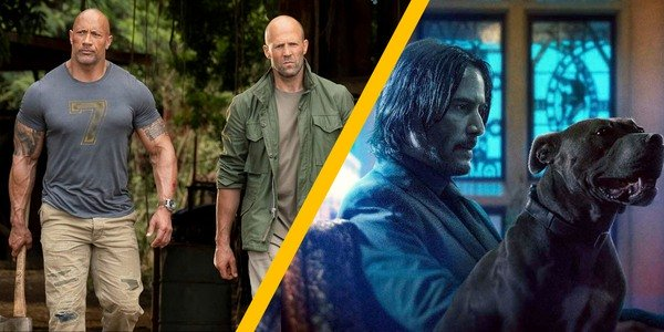 Dwayne 'The Rock' Johnson and Jason Statham in Hobbs & Shaw against John Wick in Chapter 3 - Parabel