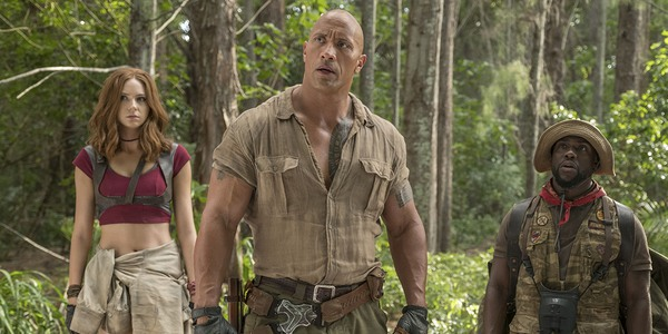 Jumanji: Welcome To The Jungle gillan johnson and hart