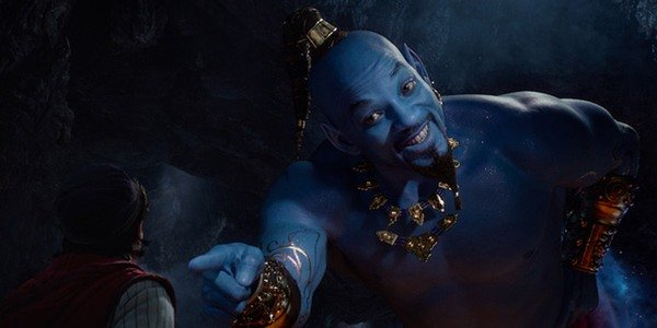 Will Smith as Aladdin's new, blue Genie