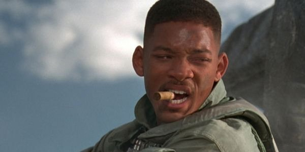 Will Smith chomps down on cigars and aliens in Independence Day