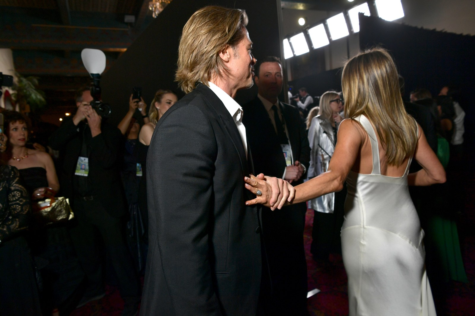 Brad Pitt and Jennifer Aniston attend the 26th Annual Screen ActorsGuild Awards at The Shrine Auditorium on January 19...