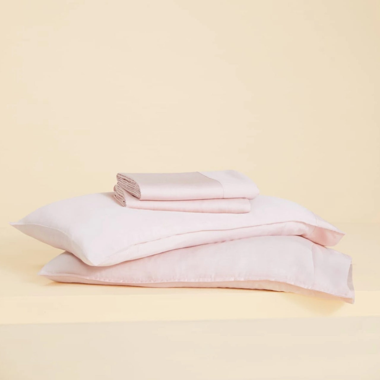 stack of pink sheets