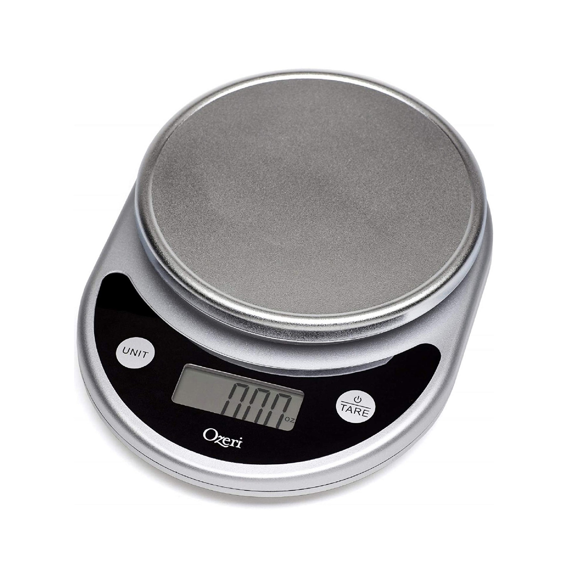 silver kitchen scale