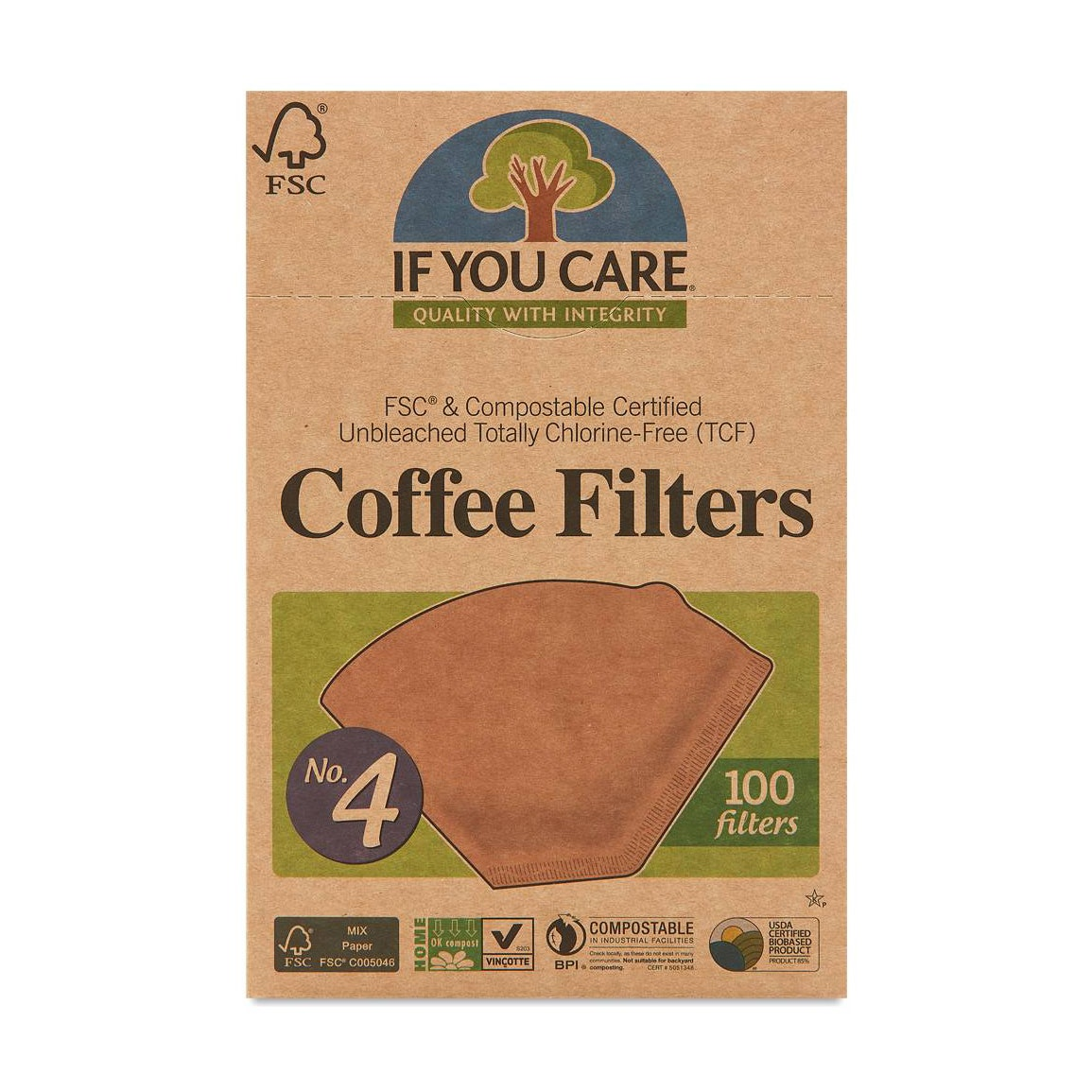 brown box with coffee filters