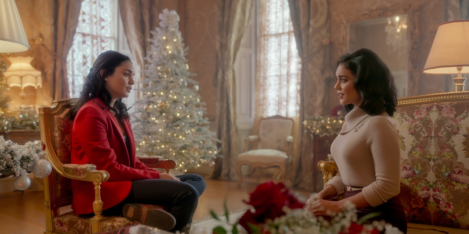 The Princess Switch Switched Again. Vanessa Hudgens as Stacy Margaret Fiona in The Princess Switch Switched Again.