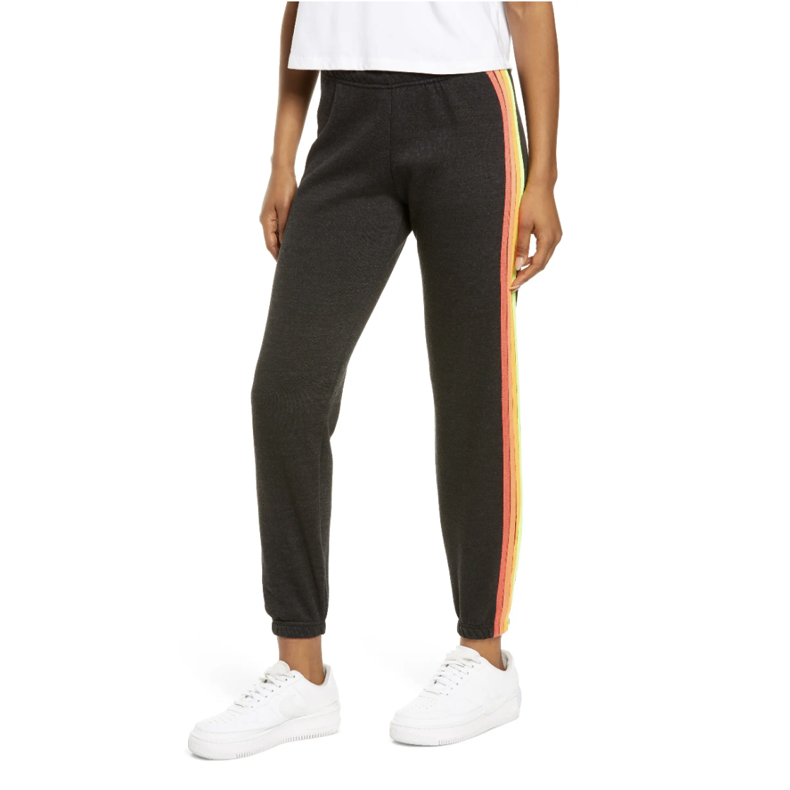 sweatpants with a stripe on the side