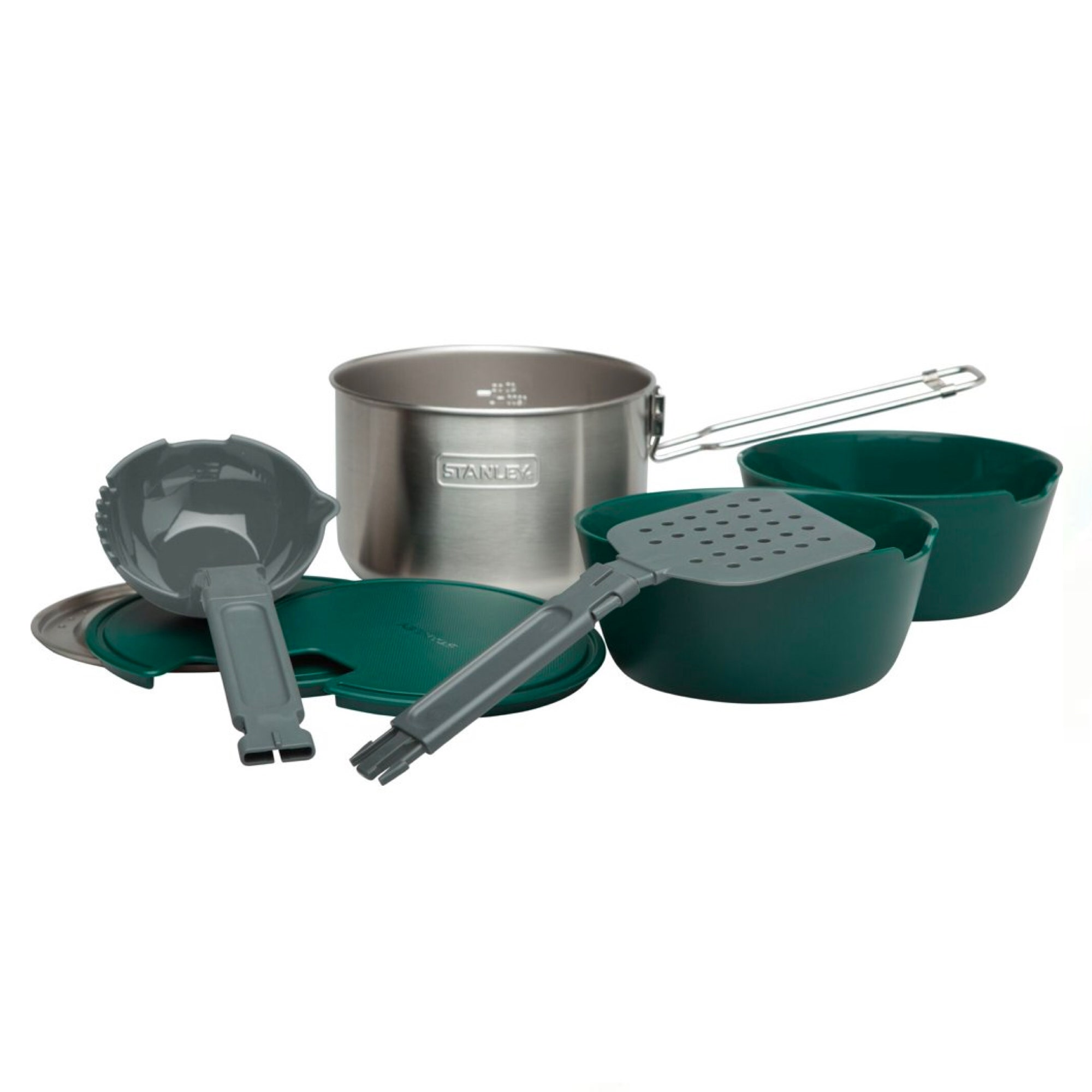 set of outdoor pots and pans