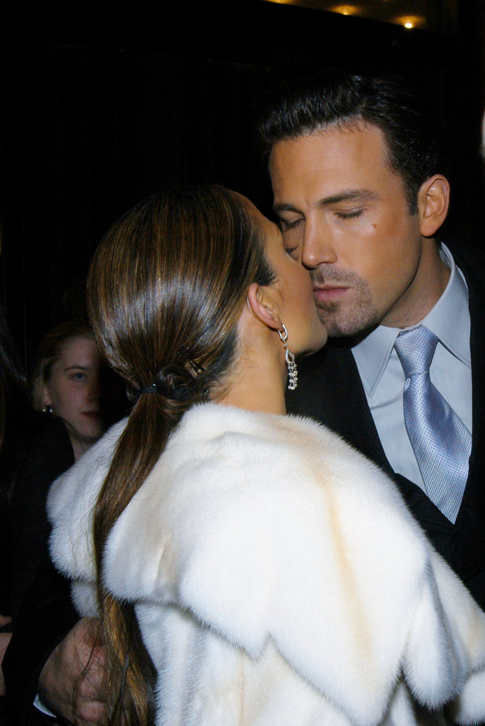 Image may contain Ben Affleck Clothing Apparel Tie Accessories Accessory Human Person Fashion Robe Gown and Suit