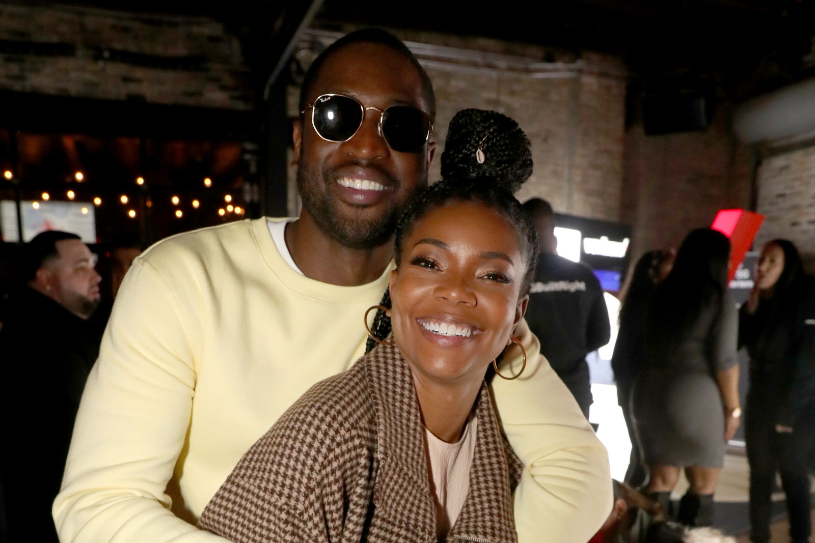 CHICAGO ILLINOIS FEBRUARY 15 Dwyane Wade and Gabrielle Union attend Stance Spades At NBA AllStar 2020 at City Hall on...