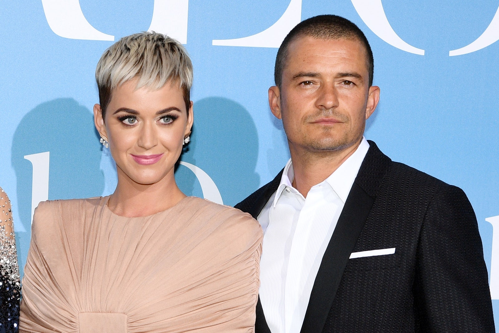 Katy Perry and Orlando attend the Gala for the Global Ocean in September 2018.